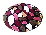 LivebyCare Multi-Size Print Round Carpet Area Floor Rug Doormat Coral Fleece Entrance Entry Way Front Door Mat Runner Ground Rugs for for Women Men Office Chair
