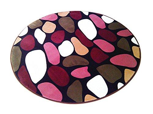Multi-size Print Round Carpet Area Floor Rug Doormat LivebyCare Coral Fleece Entrance Entry Way Front Door Mat Runner Ground Rugs for for Women Men Office Chair