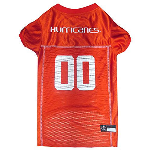 NCAA MIAMI HURRICANES UNIVERSITY DOG Jersey, Large