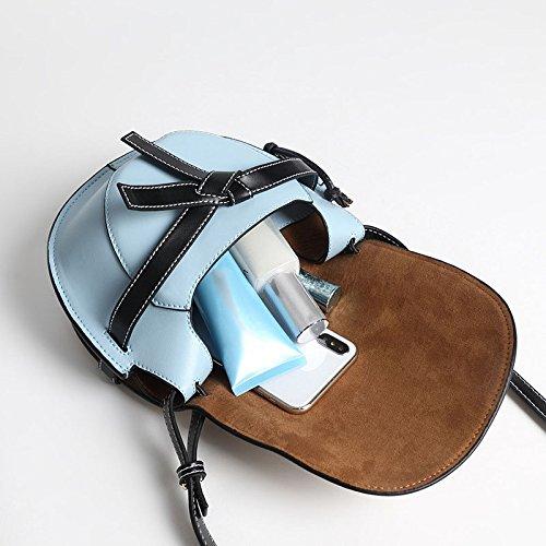 Sac Couleur Vintage Satchel Main Hit À Jxth Femelle Bow Bleu gris Vintage Top en Porte Diagonale Couleur Handle Sac Bleu Sac Cadeaux Sac Tout Fourre Cuir Rétro Sac Épaule Noir Aq4dwqOxF