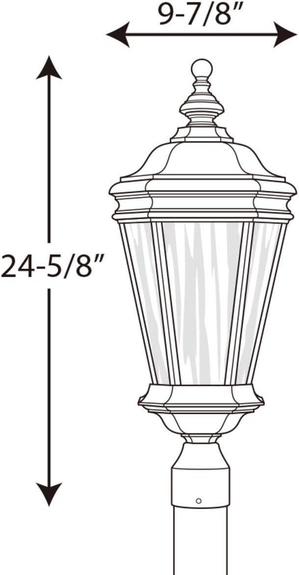 Progress Lighting 94644031 P6440-31 Post Lantern in Black Finish