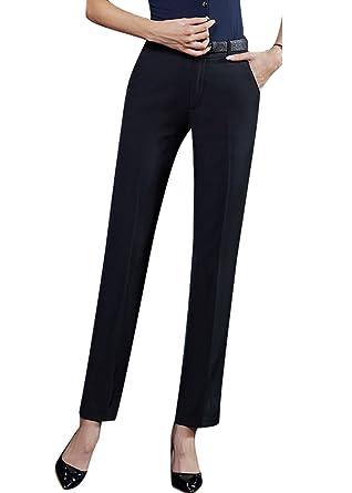 Smibra Womens Sexy Black Straight Leg Butt Lifting Wear to Work Long Dress  Pants at Amazon Women s Clothing store  484d06945