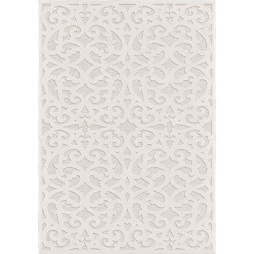 - Orian Sculpted 4704 Indoor/Outdoor High-Low Debonair Natural Area Rug, 7'9