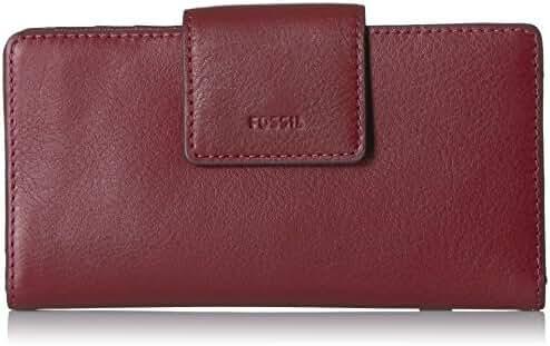 Fossil Emma Rfid Tab Clutch Cabernet Wallet