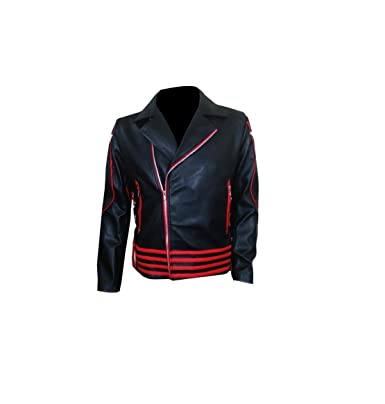 a1ce1ad60 Freddie Mercury Red and Black Genuine Leather Jacket Excliria (Small ...