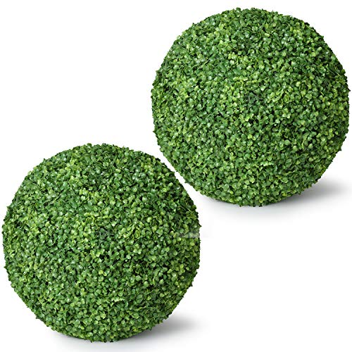 - Ball Boxwood Topiary,Artificial Boxwood Ball Round Topiary Ball for Front Patio,Planter,Deck,Garden,Backyard and Home Decor (Topiary Ball, 16