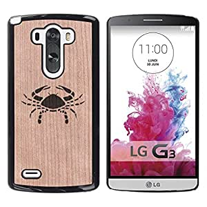 Funda Cubierta Madera de cereza Duro PC Teléfono Estuche / Hard Case for LG G3 / Phone Case TECELL Store / Cáncer Cangrejo minimalista Chef Food Cancer Crab Minimalist Chef Food