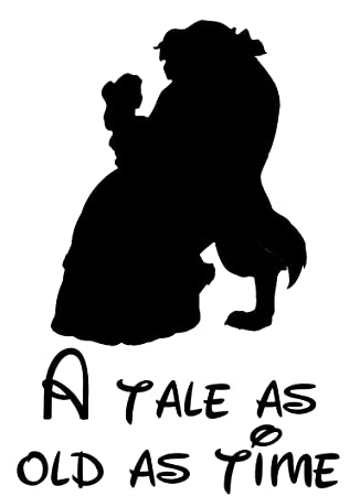 A Tale As Old Time Beauty And The Beast Disney Car Vinyl Sticker Decal