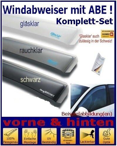 Tuning-Pro Climair Windabweiser Set vorne /& hinten mit ABE Farbausf/ührung: glasklar 04-2920K.KS