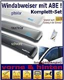 Climair Windabweiser Set vorne & hinten (mit ABE) 04-4300K.KS, Farbausführung: glasklar