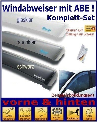 mit ABE Climair Windabweiser Set vorne /& hinten Farbausf/ührung: schwarz 04-2723D.KS