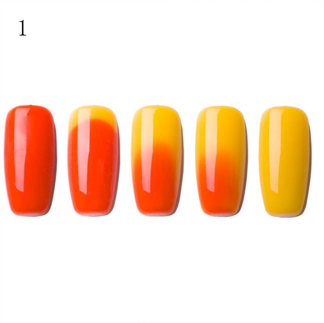 Nail Art Polish, Putars Fashion 6ML Color Changing Gel Nail Polish Nail Art Nail Gel Polish UV LED Polish (O)