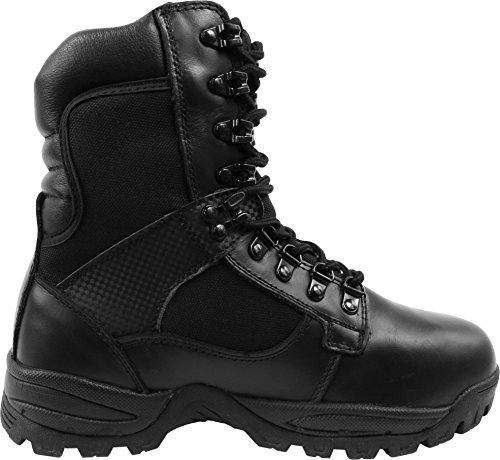 Herren Einsatz Boots Elite Forces mit 9-Loch-Schnürung Schwarz