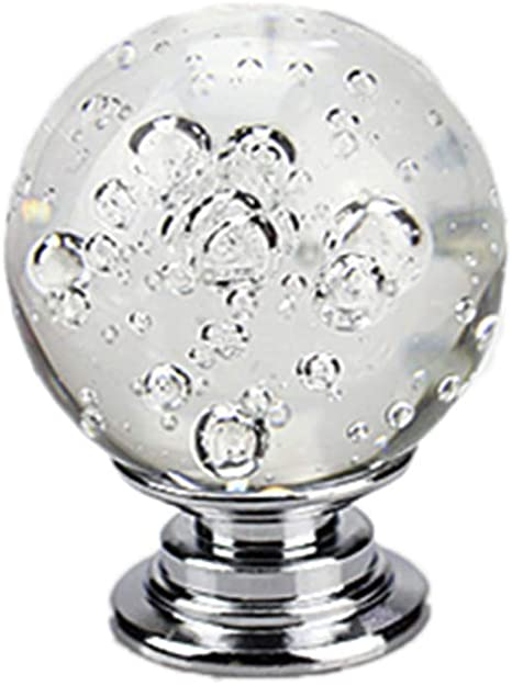 Pretty Hand-Blown Ball Bubble Glass Knob Pull Handle For Cupboards Cabinets Doors Drawers Plus Fitting Hardware Kitchens Furniture