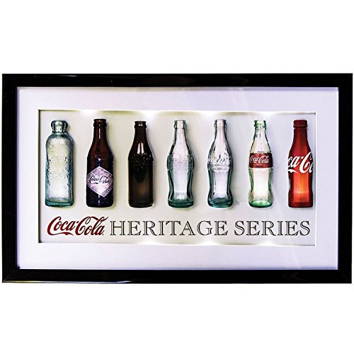 Heritage Drink CocaCola Coke 3D LED Lighted Sign Collectible Kitchen Wall Decor