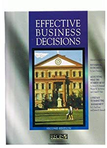 Paperback Effective Business Decisions Book