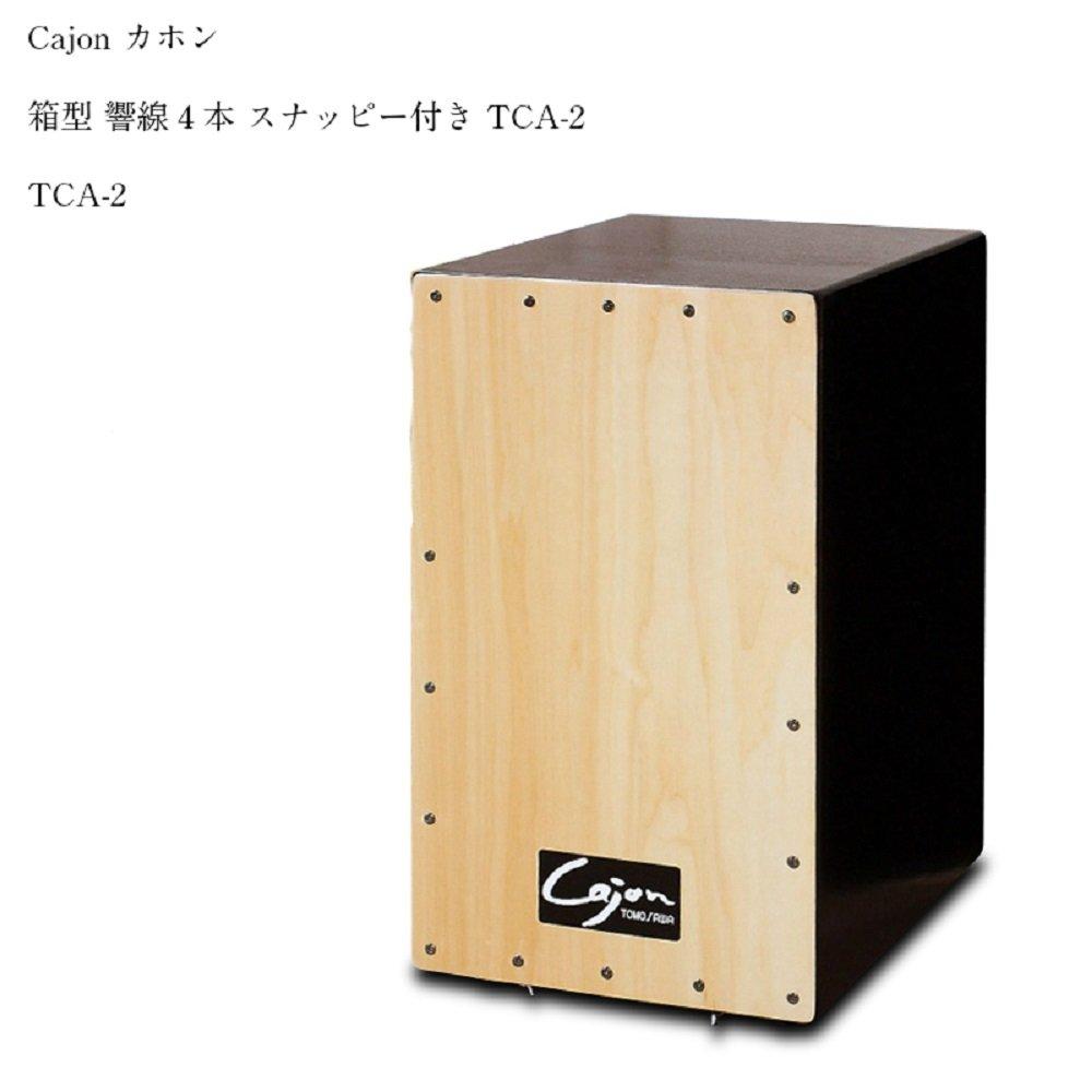 Cajon カホン 箱型 響線4本 スナッピー付き TCA-2 カホン 楽器 打楽器 パーカッション B07BFR1GY6