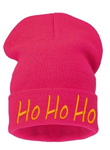 Ho Bonnet Beanie Gold Mens 4sold Womens Merry Fuchsia Christmas A twwq07Y