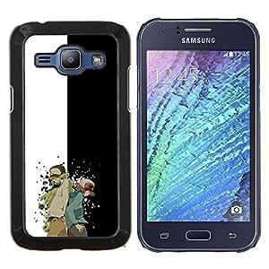 TECHCASE---Cubierta de la caja de protección para la piel dura ** Samsung Galaxy J1 J100 ** --Meter Monster Carácter