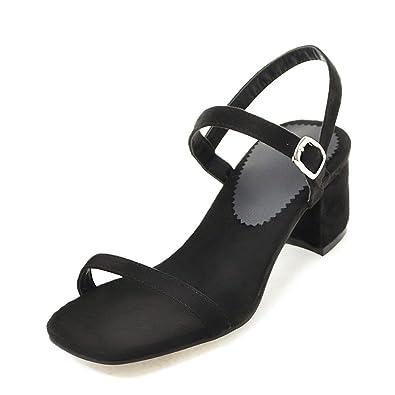 e04a1bdac85d Meotina Women Sandals Thick High Heels Ladies Summer Shoes Block Heels 2018  (US4 CN34