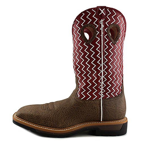 Lite Distressed Work Twisted Square On Men's US Toe X Boot Pull 1F1EWrzUq