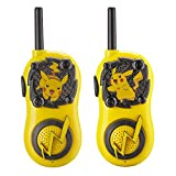 Pokemon Pikachu FRS Walkie Talkies for Kids Long Range Static Free Kid Friendly Easy to Use 2 Way Walkie Talkies