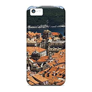 Iphone Cases - Cases Protective For Iphone 5c- Historic Dubrovnik Croatia On The Adriatic Sea