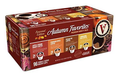 Cinnamon Pecan Cake - Victor Allen Coffee Autumn Favorites Single Serve K-cup, 96 Count (Compatible with 2.0 Keurig Brewers)