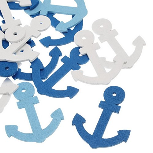 housweety-50pcs-wooden-pendants-boat-anchor-shape-mixed-colors-60mm-x478mm