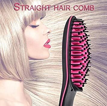 9ce52a65dc3 Amazon.com : DesireQuality Hair Straightener Brush, Premium Hair  Straightener Easy to Use With LED Display Professional Hair Straightener  Comb for Salon ...