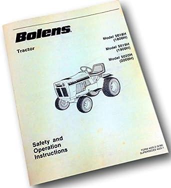 Amazon.com: Bolens cortacésped tractor de jardín 5018h 5019h ...