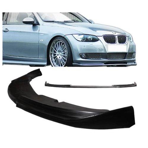 - 08-10 BMW E92 335 328 2 Door H-Style Add-On Front Bumper Lip Urethane