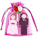 Enfain Wedding Gifts USB Flash Drives 8GB - A Groom Shape 8GB & A Bride Design 8GB