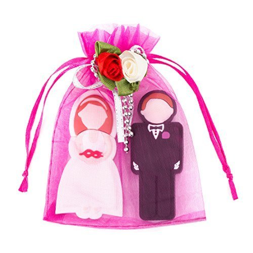 Enfain Wedding Gifts USB Flash Drive 8GB - a Groom Design 8GB & a Bride Design 8GB