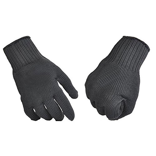 Vktech 1 Pair Kevlar Cut Metal Mesh Butcher Anti-cutting Breathable Work Gloves