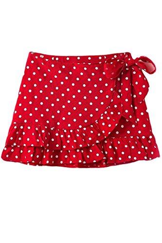 2018 Ruffle Red Falda Alta Mini Zamtapary Polka Summer Mujer De Casual Cintura Wrap Dot 5wHIOgqzx