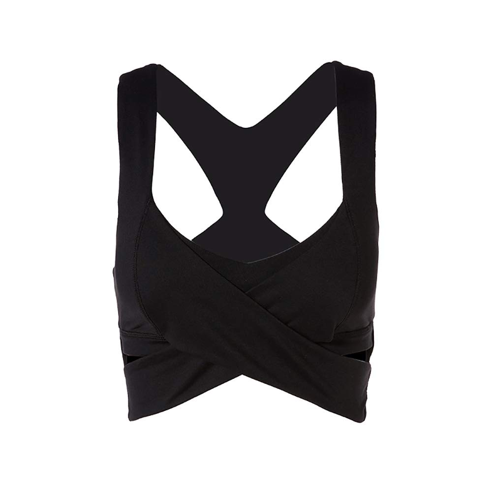 Noir Yoga Vest Sports Bra Sports Vest Fitness Yoga Bra S