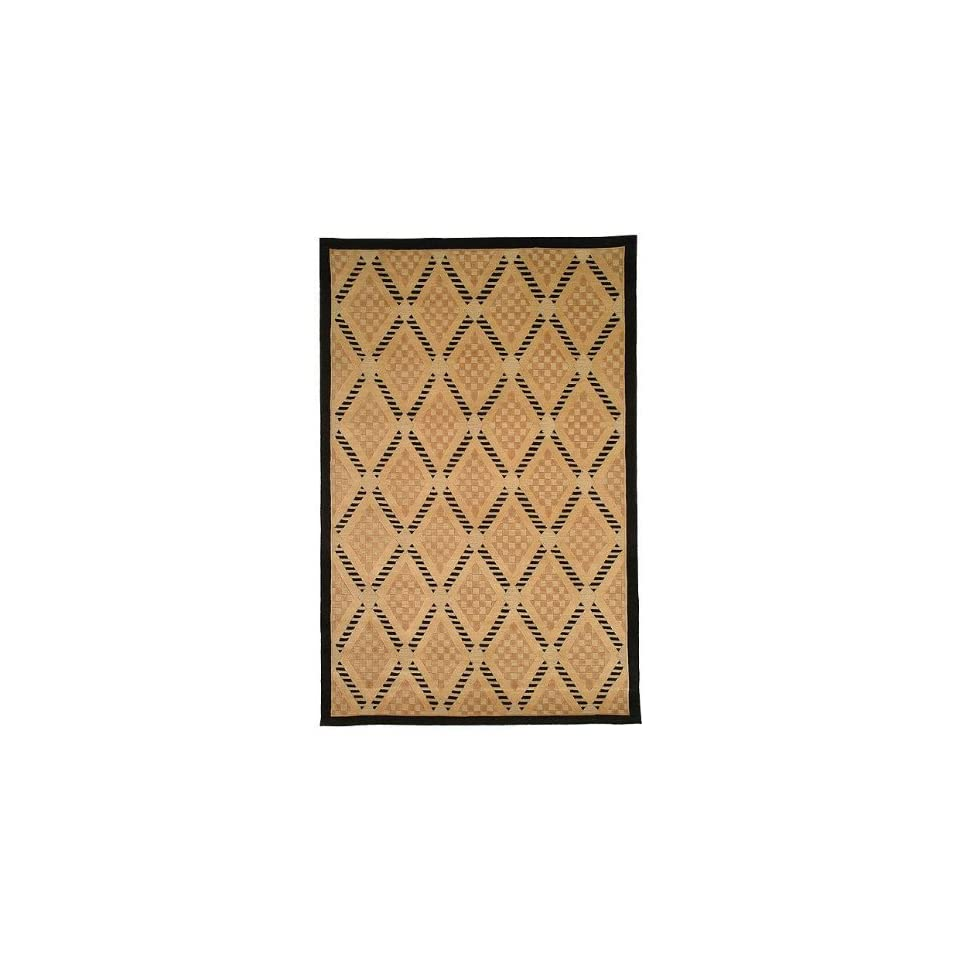 Safavieh Tibetan Collection TB273A Hand Knotted Black and Gold Wool Runner (26 x 12)