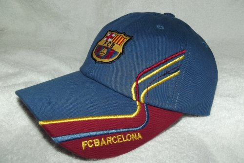 New! Blue Rhinox Official FCB FC Barcelona Embroidered Buckle Back Cap / Hat