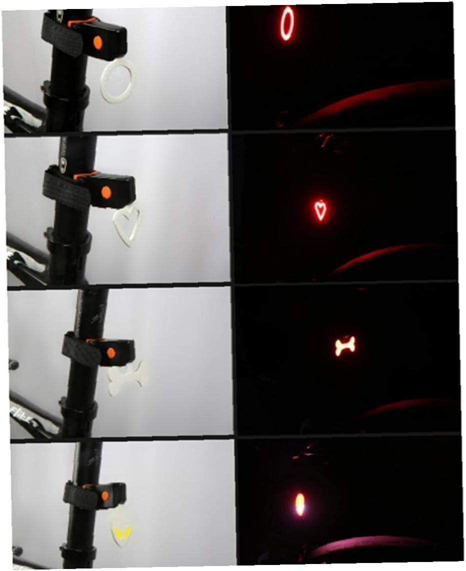 Radfahren R/ücklicht USB Aufladbare Mountainbike-Herz-Form-sicherheits-hintere Licht-wasserdicht Fahrrad-warnblinkende Hinten Led-licht