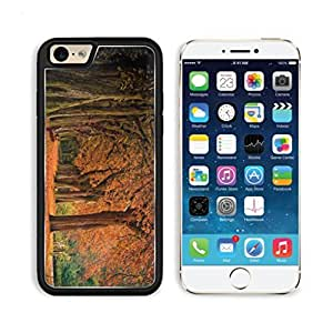 Autumn Park Fallen Leaves Bench Apple iPhone 6 TPU Snap Cover Premium Aluminium Design Back Plate Case Customized Made to Order Support Ready Luxlady iPhone_6 Professional Case Touch Accessories Graphic Covers Designed Model Sleeve HD Template Wallpaper Photo Jacket Wifi Luxury Protector Wireless Cellphone Cell Phone
