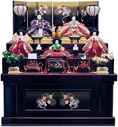 吉徳 雛人形 収納飾り 五人三段収納飾り 間口66×奥行69×高さ77cm 606825