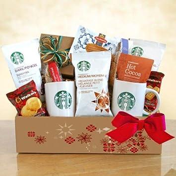Amazon.com : A Starbucks Christmas Coffee Christmas Gift Basket ...