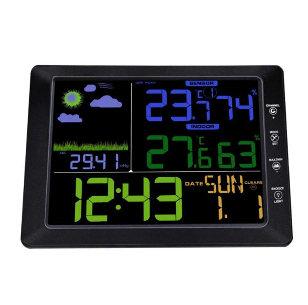 Gbphh Wetterstation Multifunktional Wireless Wireless Farbbildschirm
