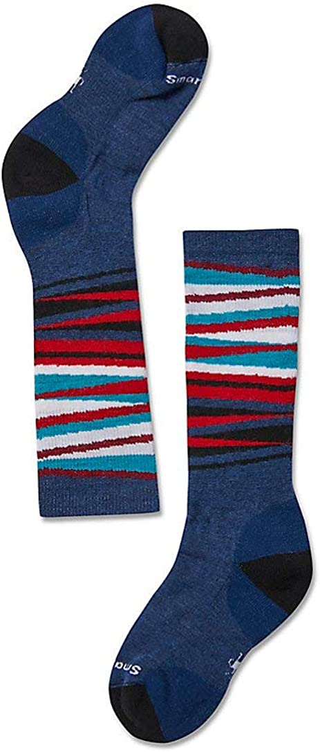 Smartwool Kids' Over-the-Calf Socks - OTC Wintersport Stripe Socks, Medium Cushioned Merino Wool Performance Socks
