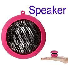 Wemore(TM)New arrival Portable pocket Mini Hamburger Speaker for iPhone iPad iPod Laptop PC MP3 Audio Amplifier Rose
