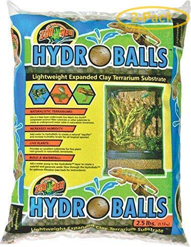 Zoo Med HydroBalls Clay Terrarium Substrate 2.5 lbs - Pack of 2