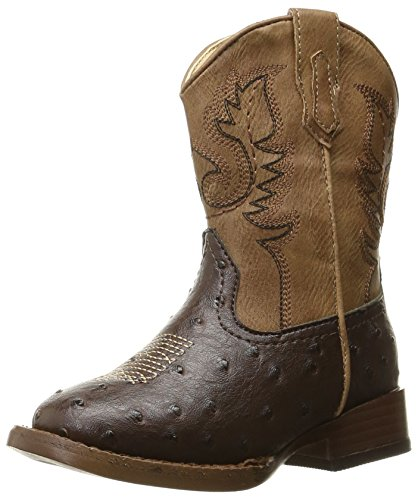 ROPER Boys' Cowboy Cool Western Boot, Brown, 8 M US Toddler
