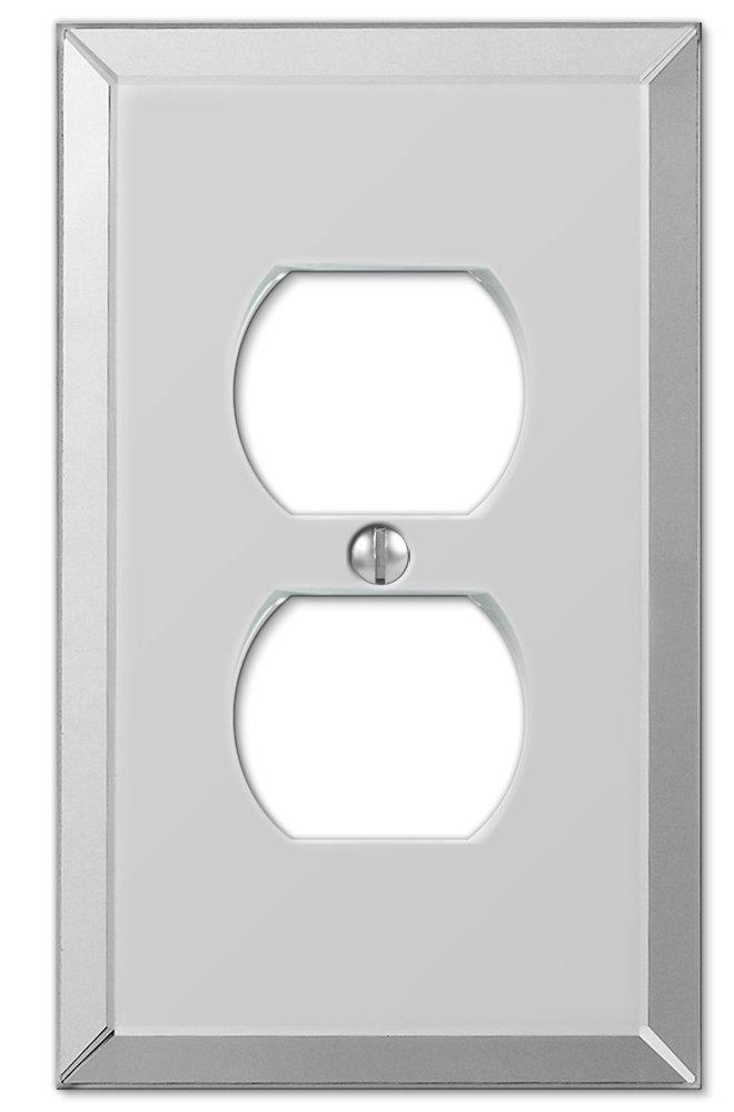 Amerelle 66D Mirror Finish 1 Duplex Wallplate, Mirror Finish by Amerelle