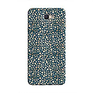 Cover It Up - Brown Navy Pebbles Mosaic Galaxy J5 Prime Hard Case